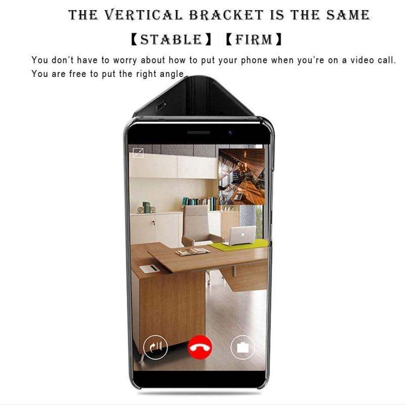 Smart case untuk xiaomi redmi note 4 redmi 4x case mirror view pu - Aksesori dan suku cadang ponsel - Foto 4