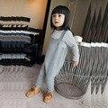 2016 outono inverno Meninos & meninas de malha de malha de algodão infantil bebê Bib Bib geral geral