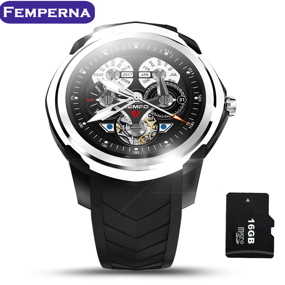 Android 5 1 Smart Watch Phone 512MB 4GB Support Up to 32GB TF Card Heart Rate