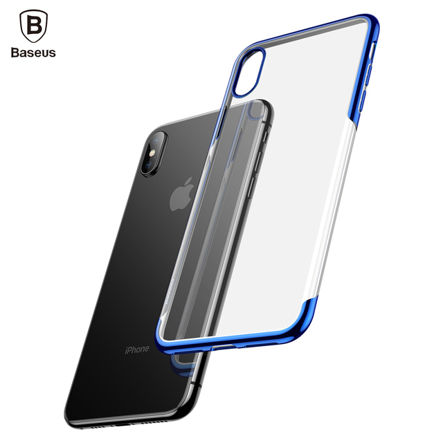 best service 7d033 e2207 US $5.36 |BASEUS Shining Series For iPhone Xs XR Xs Max Case Luxury  Transparent Plated TPU Case for iPhone Xs XR Xs Max Case capa coque-in  Fitted ...
