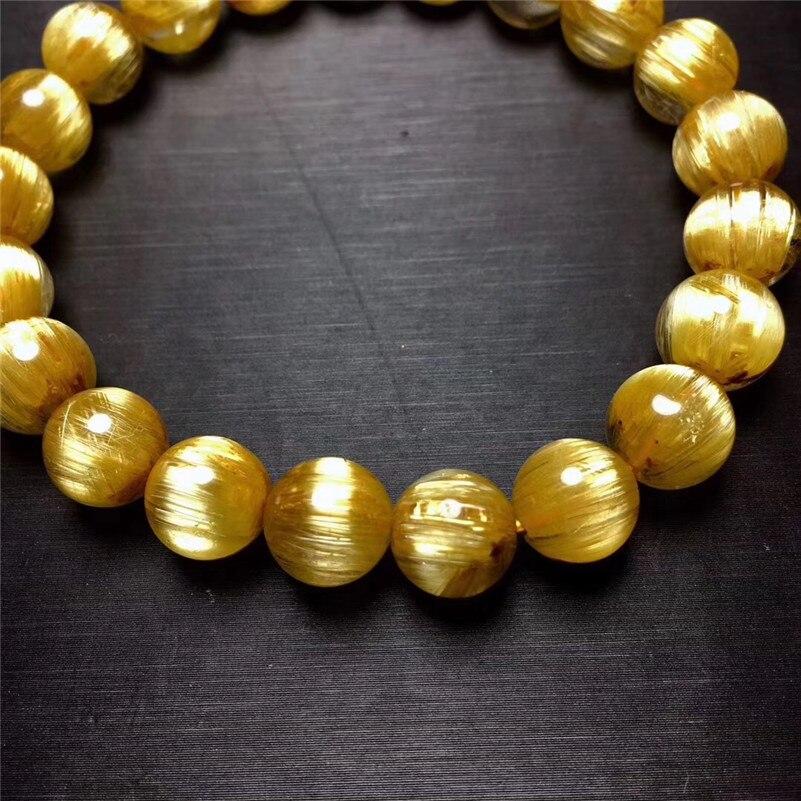 Natural Rutilated Titanium Quartz Bracelet (4)