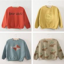2017 Bobo Choses Garçons Filles Manches Longues T-shirt Tops Automne Vêtements Enfants Pulls Molletonnés de Bande Dessinée Impression T-shirt Bébé Vêtements
