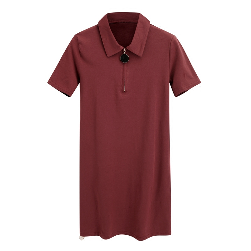 2018 New Summer Women Loose Casual Plus Size Polo T-shirt Dress Female Casual Student Young Girl Dress Vestidos