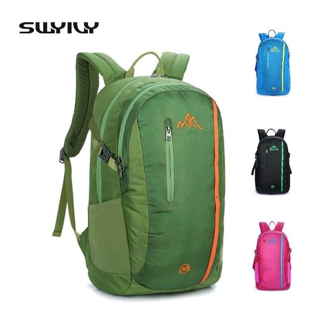 cdfcf8ff45c61 SWYIVY Neue 30L Nylon Wasserdichte Tasche Für Männer Und Frauen Outdoor-reisen  Wandern Camping Rucksack