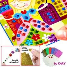 3D кристалл акриловые головоломки DIY Мозаика Пена наклейки эва ручной работы художественный мультфильм творческие развивающие игрушки для детей можно выбрать