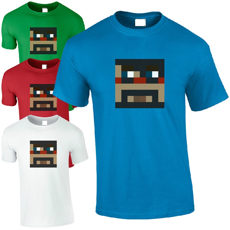 T Shirts Fashion 2016 Crew Neck Men Short-Sleeve Captainsparklez Fun Cool Cs Youtube Video Gamer Fan Top Printing Shirt ...