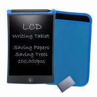 Newyes 8 5 LCD Writing Pad Notepad Electronic Drawing Tablet Graphics Board With Blue Sleeve Case