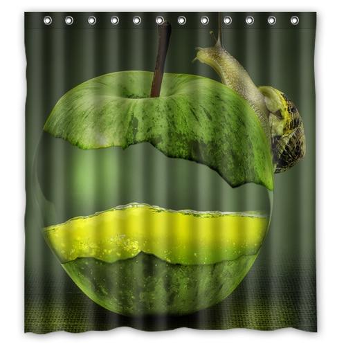 Snail Shower Design Ideas: The Snail On Green Apple Custom Design Bath Bathroom