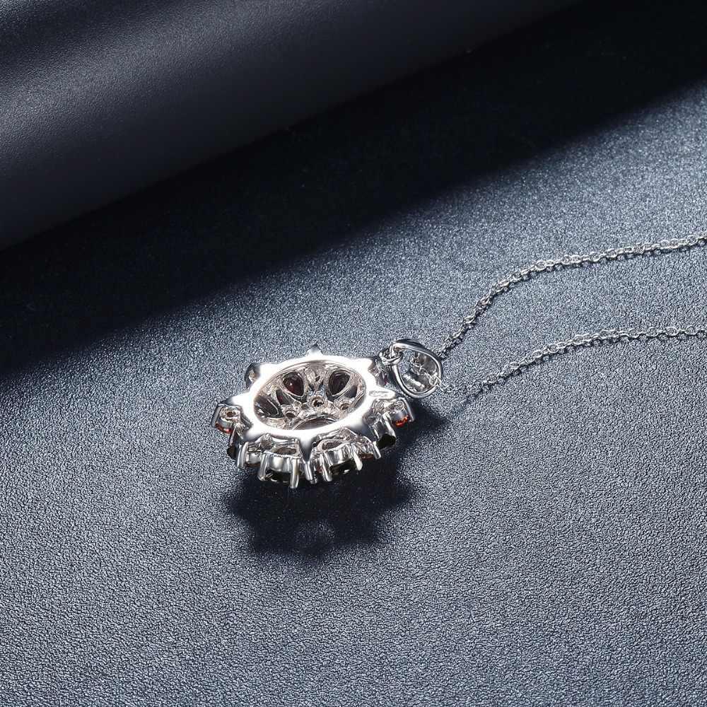 Hutang 7.54ct pingente de granada preta natural, 925 colar de prata esterlina jóias de pedra preciosa fina para as mulheres, presente para o natal