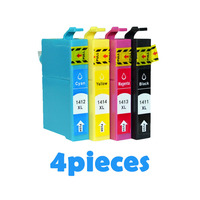 4pcs Compatible Ink cartridges For Epson T1411 T1412 T1413 T1414 ME 32/33/35/320/330/340/350 82WD/85ND/535/560W/570W printer