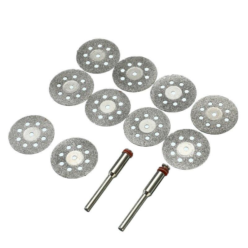 10 шт./компл. 22mm алмазное шлифовальное колесо абразивы пильные диски роторный инструмент Циркулярный инструмент для резки дисковые пилы