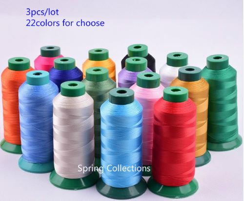 12pcs 210D 3 High Strength Bonded Nylon Sewing Thread Upholstery Outdoor Market Drapery Beading Luggage Purses