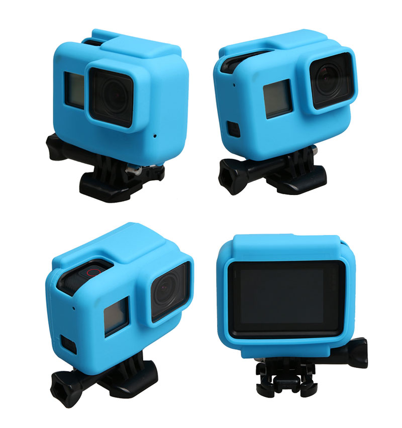 Colorful Soft Silicone Rubber Frame Protective Case for GoPro Hero 5 Black Protective Cover for Go Pro 5 Camera Accessories (8)