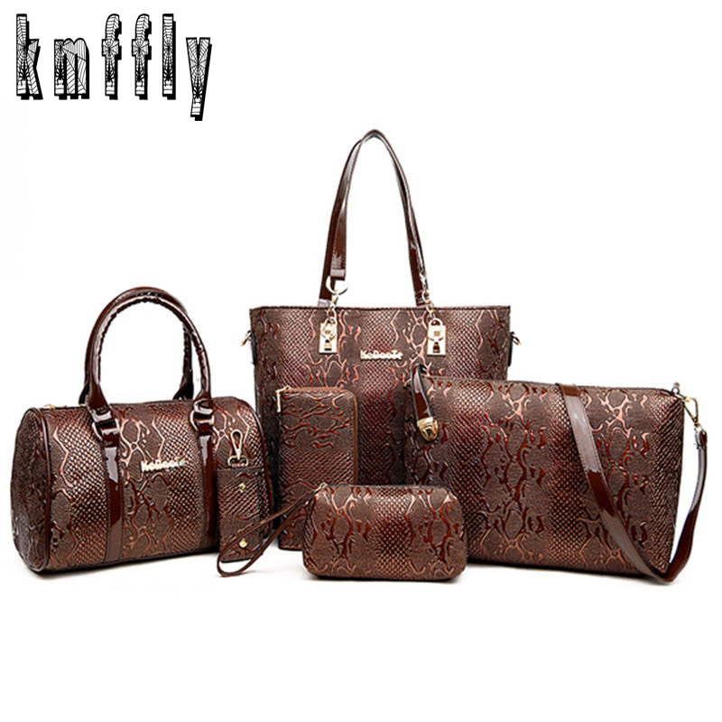 Women Leather Handbag Messenger Composite Bags 6 Sets Ladies Designer Handbags Famous Brands Fashion Bag For Female Classic Bag