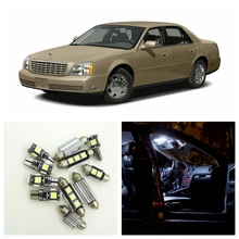 16pcs White Canbus Car Led Light Bulbs Interior Package Kit For 2000 2005 Cadillac Deville