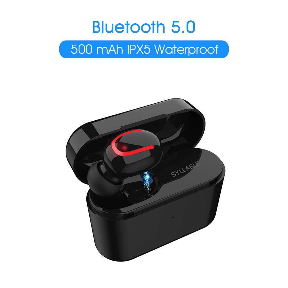 Sylaba Q26 zestaw słuchawkowy pojemność baterii 50mAh BT V5.0 obudowa z ładowarką pojemność baterii 500mah słuchawki z kabel do ładowania usb Q26