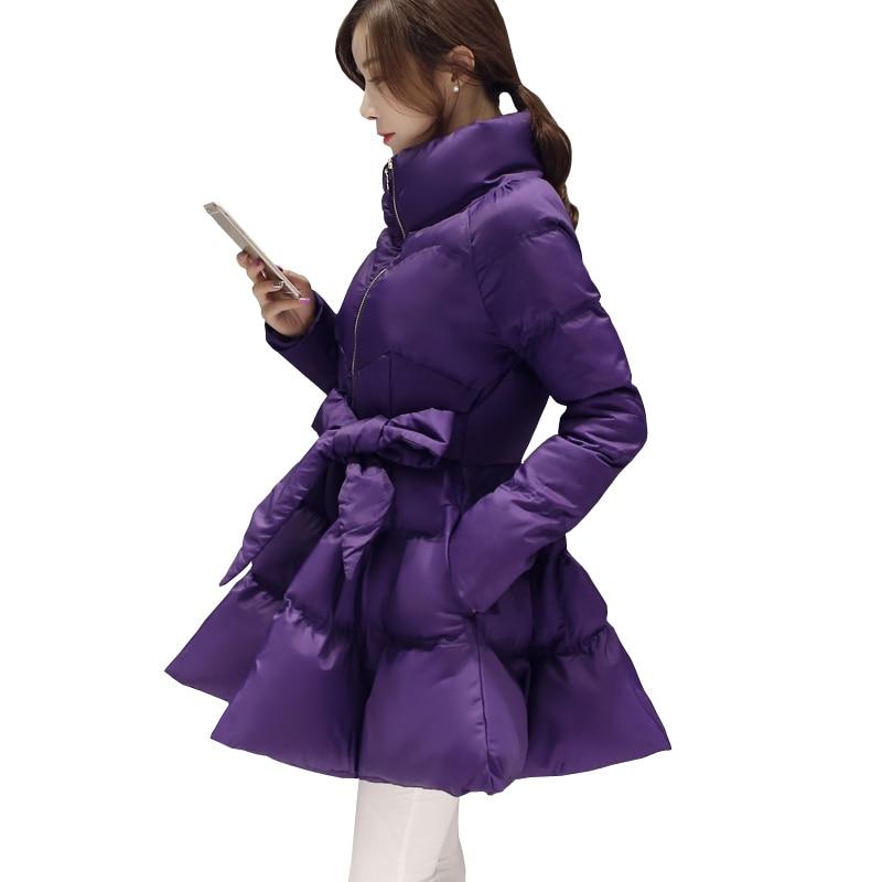 Women   Down   Jacket Winter   Coat   Korean Plus Size Long Duck   Down   Parka Student Sashes Thick Warm Cotton   Coat   Fashion Female Jacket