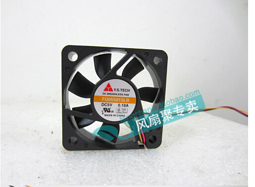 Y.S.TECH FD055015LB 5V0.18A 5CM new original Wonsan 5015 50X50X15MM three lines radiating fan new original bp31 00052a b6025l12d1 three wire projector fan