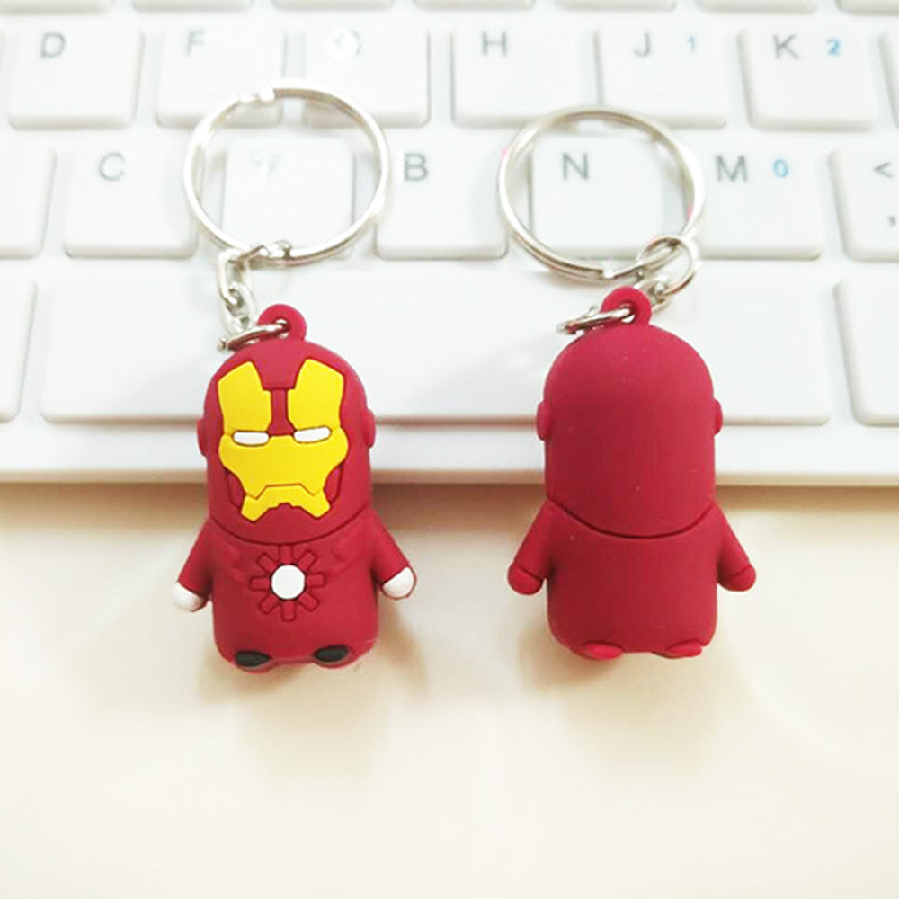 SUTI 1PCS 3D Keychain Spider Man Keyring Captain America Batman Iron Man Superman Key Ch ...