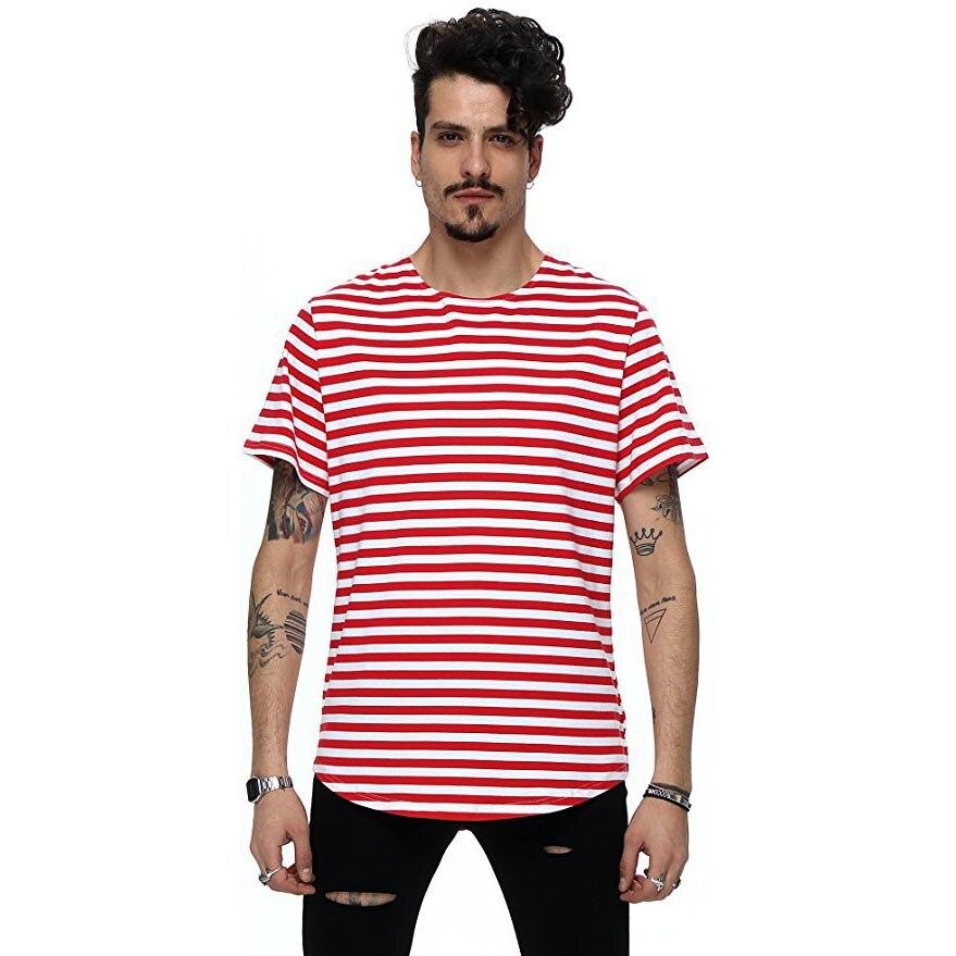 Nuevo 2018 calle de moda de verano camiseta de los hombres de la - Ropa de hombre - foto 5