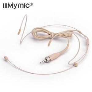 Image 1 - Micro professionnel de condensateur omnidirectionnel de casque de peau pour lémetteur sans fil de BodyPack de Sennheiser 3.35 3.5mm verrouillable