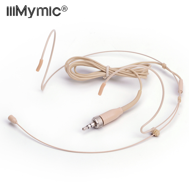 Micro professionnel de condensateur omnidirectionnel de casque de peau pour lémetteur sans fil de BodyPack de Sennheiser 3.35 3.5mm verrouillable