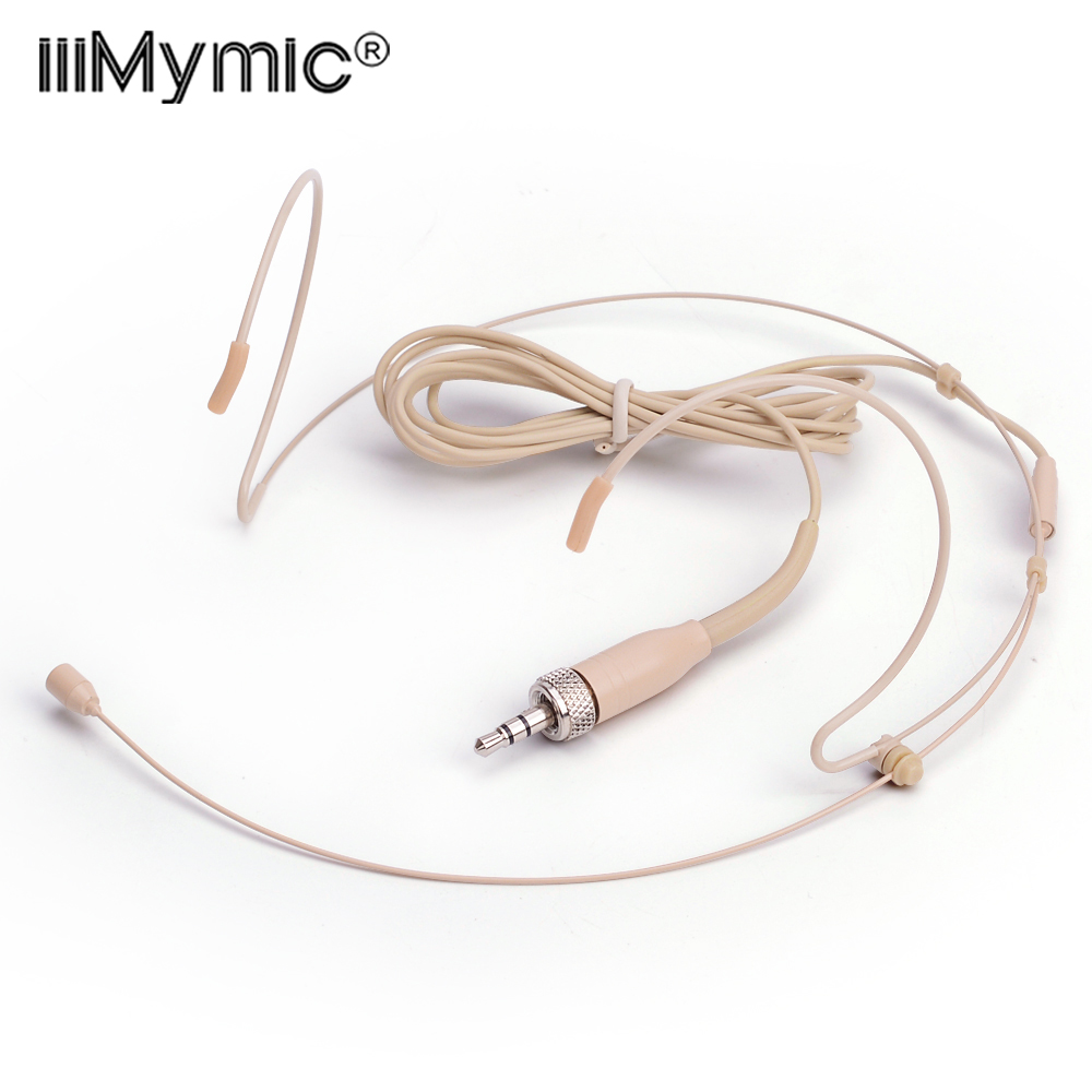 Professional Skin Headset Omnidirectional Condenser Microphone For Sennheiser Wireless BodyPack Transmitter 3.35 3.5 mm Lockable