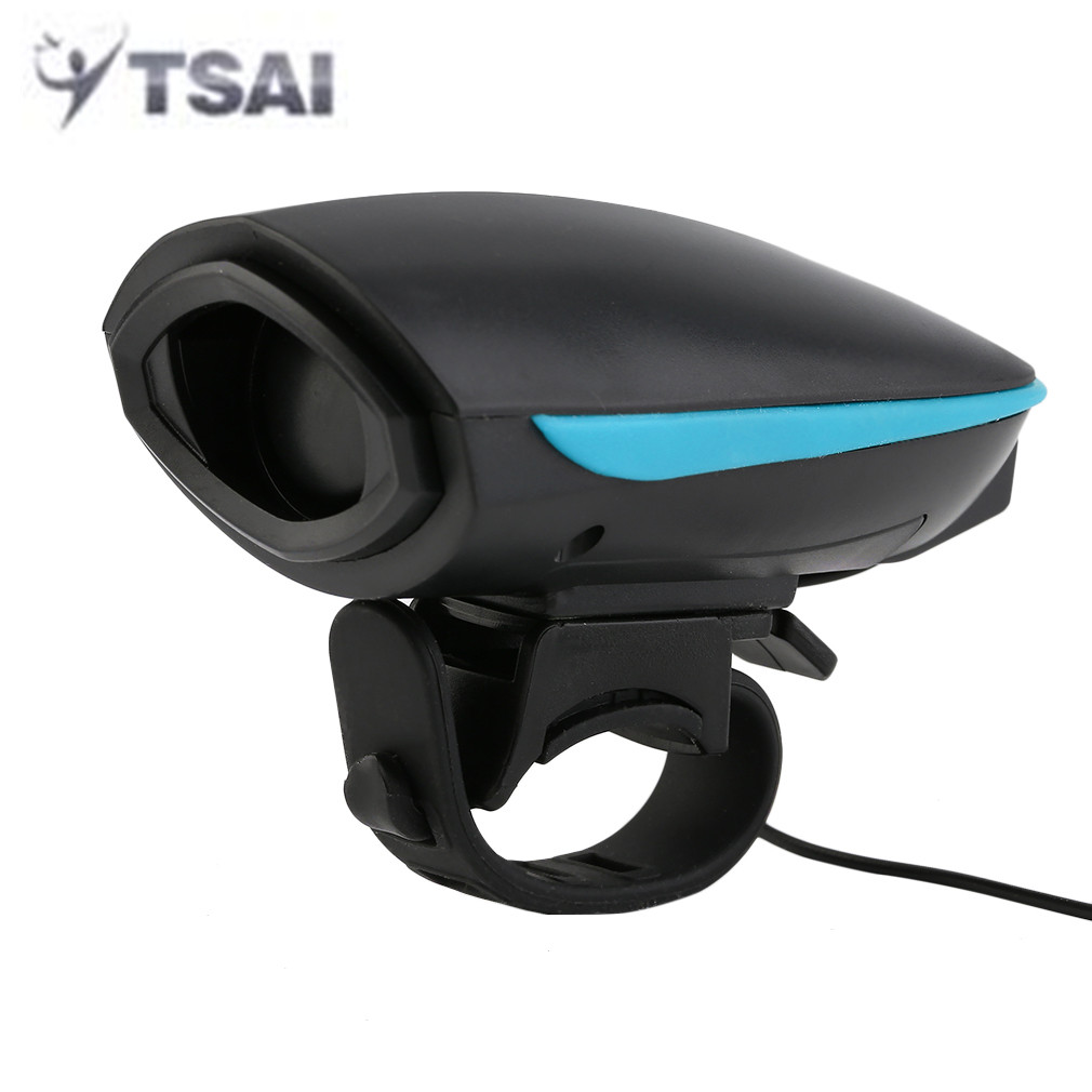 TSAI 140 db Bicycle Bell Waterproof Cycling Electric Horn Safety Bike Alarm Bell Sound Handlebar Ring Strong Loud Cycle Speaker