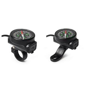 Image 1 - Motorcycle Mobile Phone Charger USB Waterproof Switch Car Charger With Compass USB 12 80V Universal Wholesale Purchasing