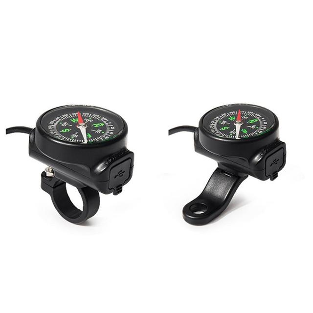 Motorcycle Mobile Phone Charger USB Waterproof Switch Car Charger With Compass USB 12 80V Universal Wholesale Purchasing