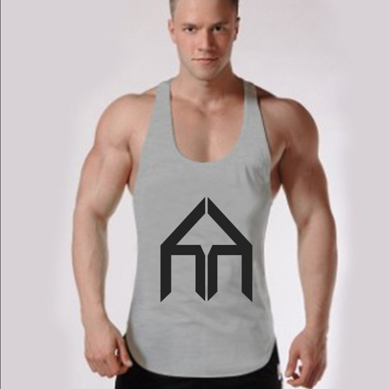 Fashion Hot Men Bodybuilding Tank Tops Gyms Clothing Stringer Singlets Vest Shirt Musclewear Y BACK Tank Top
