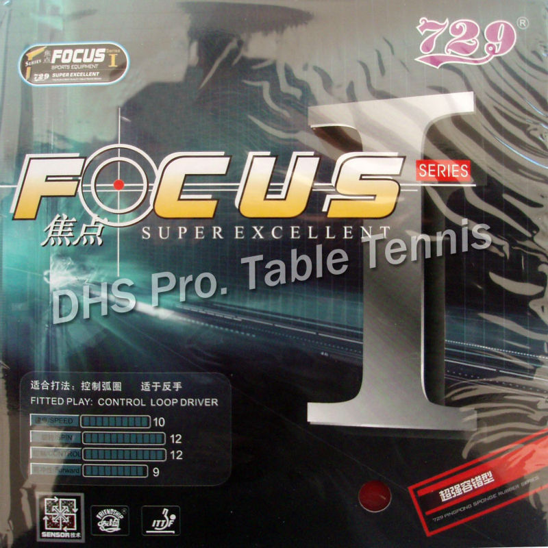 RITC 729 Friendship FOCUS I FOCUS 1 FOCUS-1 Pips-in Table Tennis Pingpong Rubber With Sponge