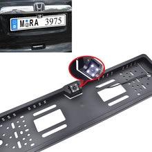Universal Car License Plate Frame Cámara de Visión Trasera Del Coche de HD para Los Coches Europeos de LA UE Número De Bastidor Del Coche Reversa de Reserva de la Cámara + Free regalos