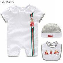 Baby Boy Girl Clothes Cotton Cartoon Short-Sleeved Romper Ne