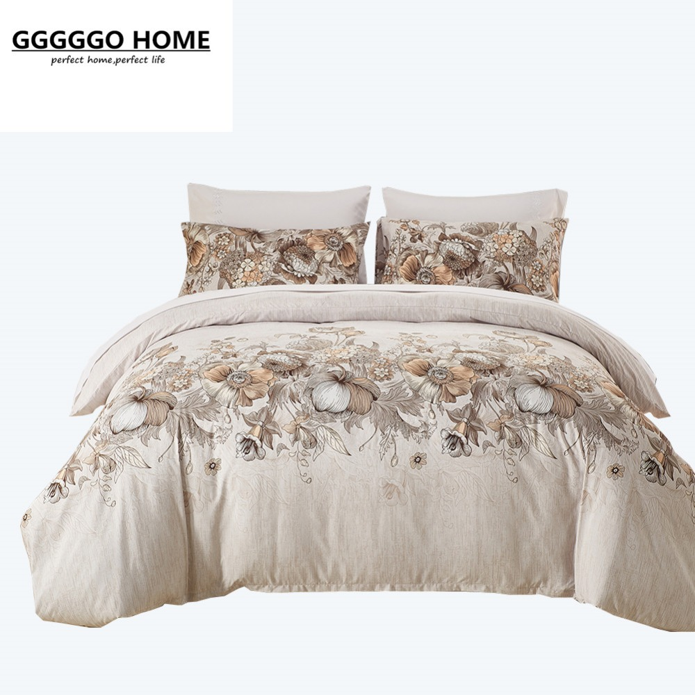 online get cheap floral bedding sets aliexpresscom  alibaba group - gggggo home floral bedding set pcs microfiber fabric duvet cover setkingqueen