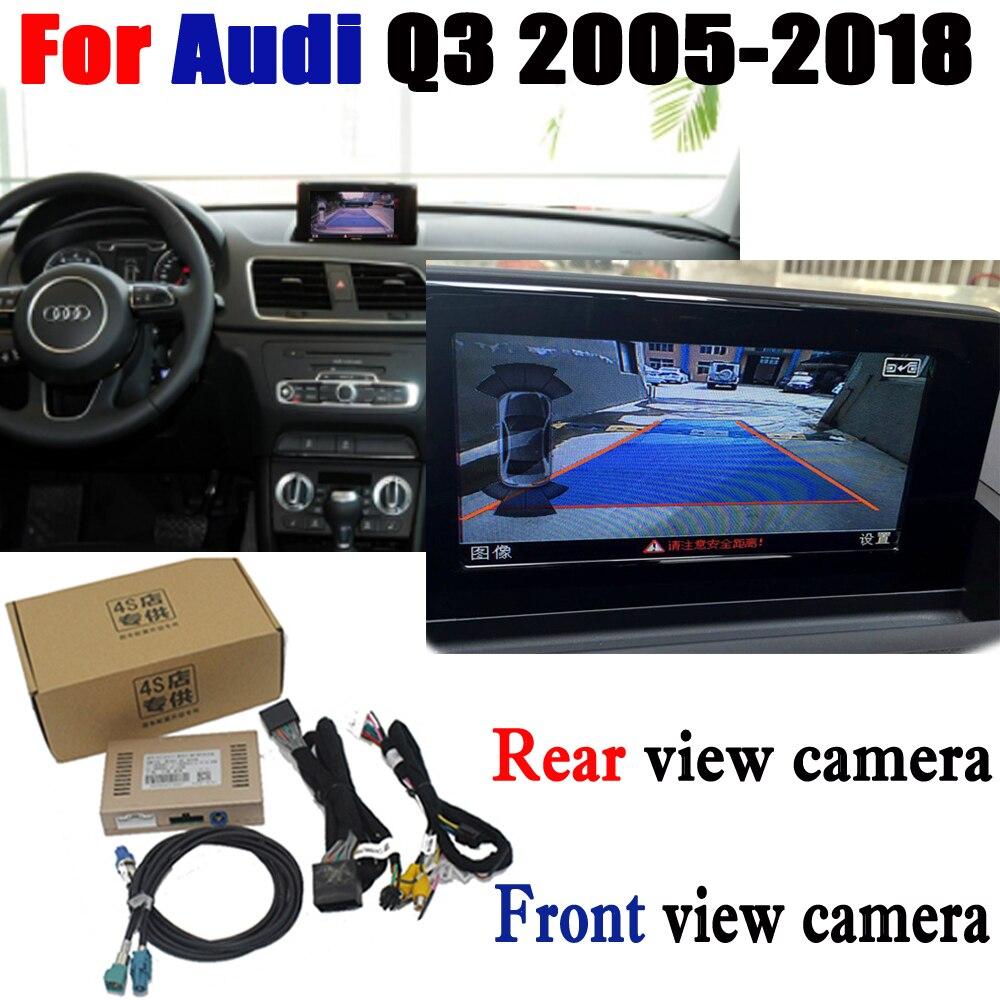 Caméra de recul adaptateur d'interface Connecter Moniteur à Écran D'origine Pour Audi Q3 2005-2018 MMI Décodeur CCD Nuit Fr Arrière Vue Caméra