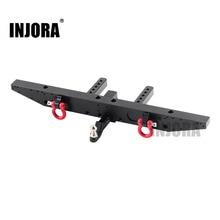 INJORA 1 قطعة المصد المعدني الخلفي مع D خواتم ل 1/10 RC سيارة TRAXXAS TRX 4 TRX4 ترقية أجزاء