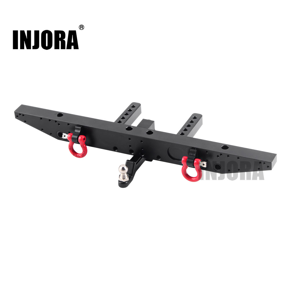 INJORA 1PCS Metal Rear Bumper With D-rings For 1/10 RC Car TRAXXAS TRX-4 TRX4 Upgrade Parts
