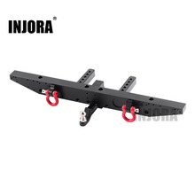 INJORA 1PCS Metal Rear Bumper with D rings for 1/10 RC Car TRAXXAS TRX 4 TRX4 Upgrade Parts