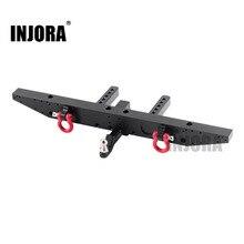 Injora 1 個金属リアバンパーと d リング 1/10 rc カートラクサス TRX 4 TRX4 アップグレードパーツ