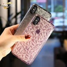 KISSCASE Glitter Diamond Case For iPhone 6 7 Plus 8 Plus Chic Transparent Soft Silicone Cases For iPhone X 5s se 5 6 s Capinhas(China)