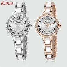 KIMIO Reloj de mujer 2016 Relojes Mujeres rhinestone reloj de cuarzo marca de Lujo reloj Cristalino Mujeres se Visten de Moda Relojes de pulsera de Cuarzo