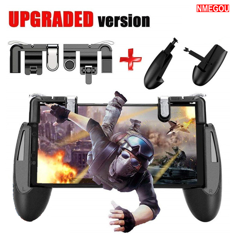 Mobile Phone Game Fire Button Controller and Joystick Survival Gaming L1R1 Trigger for Knives Out Pubg Rules for IPhone Samsung
