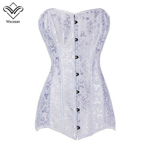 Image 2 - Корсет, сексуальные корсеты и бюстье, корсаж для похудения, корсет большого размера со стальными костями, длинный корсет, XS 6XL