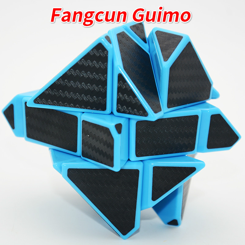 FangCun 6cm 3x3 Ghost Guimo Cube Blue Base With Black/Silver/Hollow Black Sticker SpeedCube Educational Toys Gh-ost-Cube