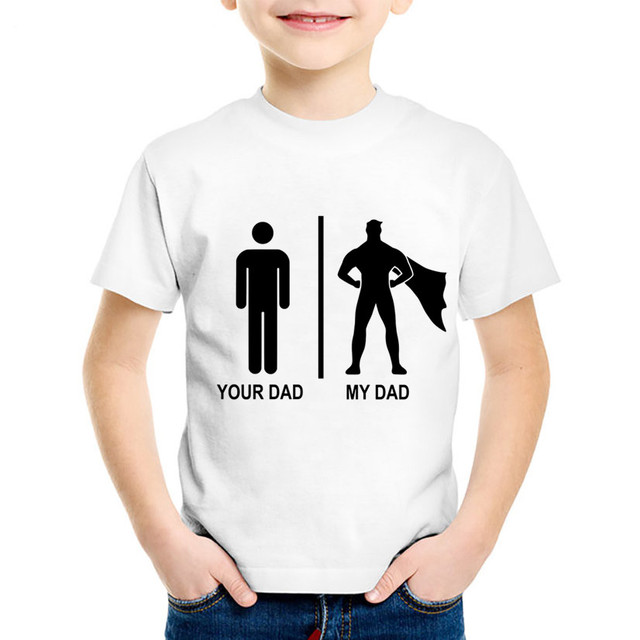 62dd4533 Fashion Print My Super Dad Hero Children T shirt Kids Fathers Day Summer Tee  shirts Boys/Girls Casual Tops Baby Clothing,HKP741