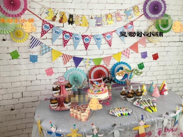 25CM kindergarten fan decoration flowers children birthday party