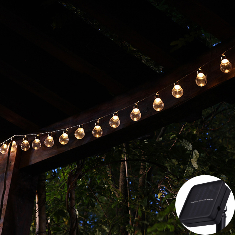 Outdoor Bistro Solar Powered Globe String Lights: Aliexpress.com : Buy Solar Powered LED Globe String Lights