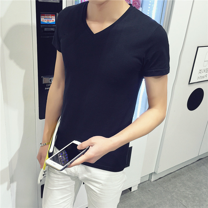 Free shipping wholesale 2016 men solid color tshirt homme for Cheap plain colored t shirts
