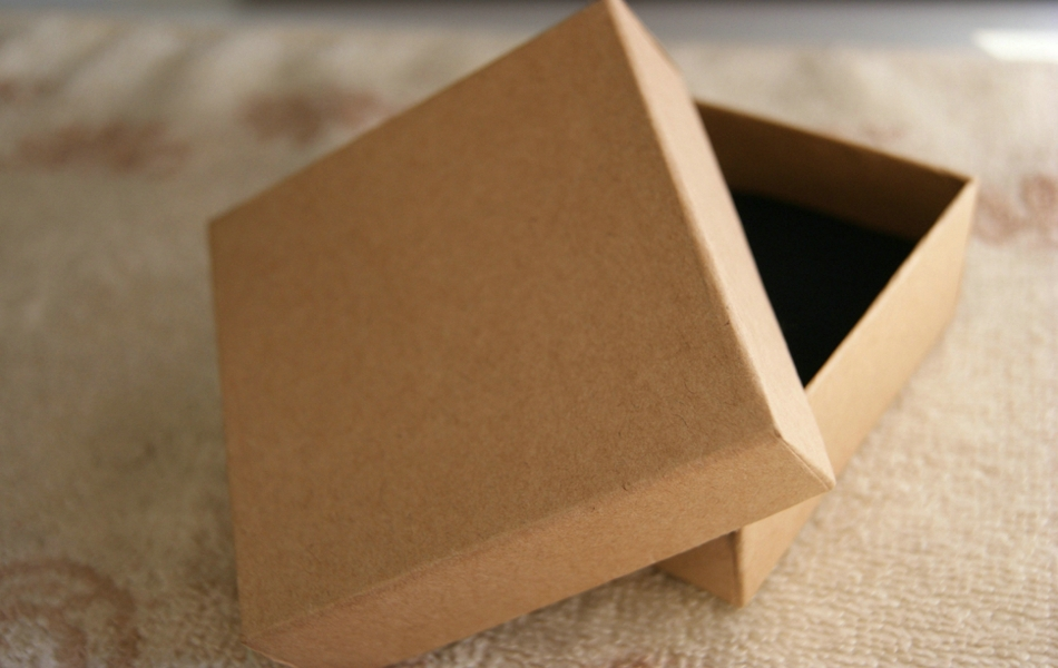 8*8*3.5cm plain kraft box for jewelry gift packing boxes for ...
